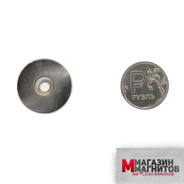 Неодимовый диск с зенковкой 25х3 мм.