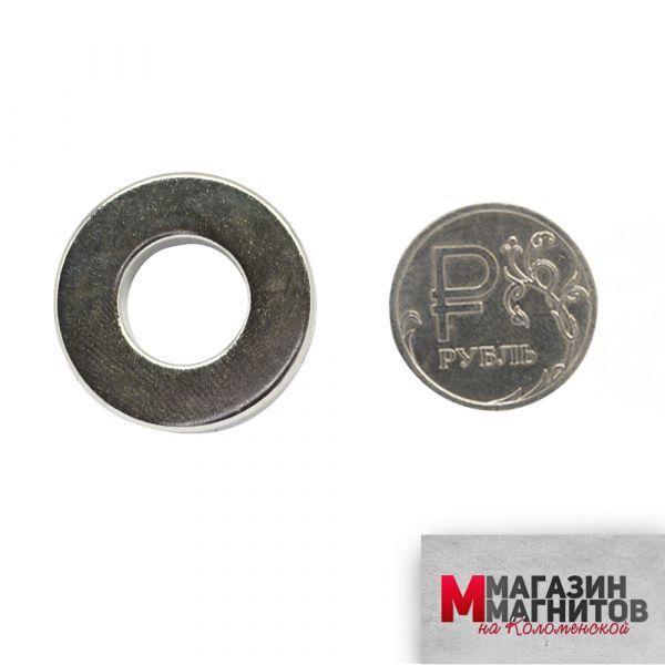 Неодимовый магнит кольцо 25х12х5 мм.