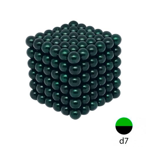 Неокуб зеленый - 7 мм. (216 шариков)