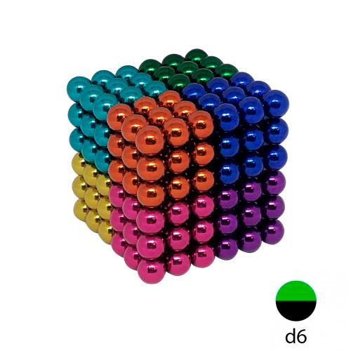 Неокуб цветной - 6 мм (216 магнитных шариков)