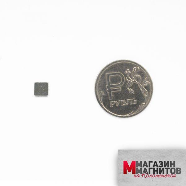 Неодимовый магнит прямоугольник 5х5х1 мм.