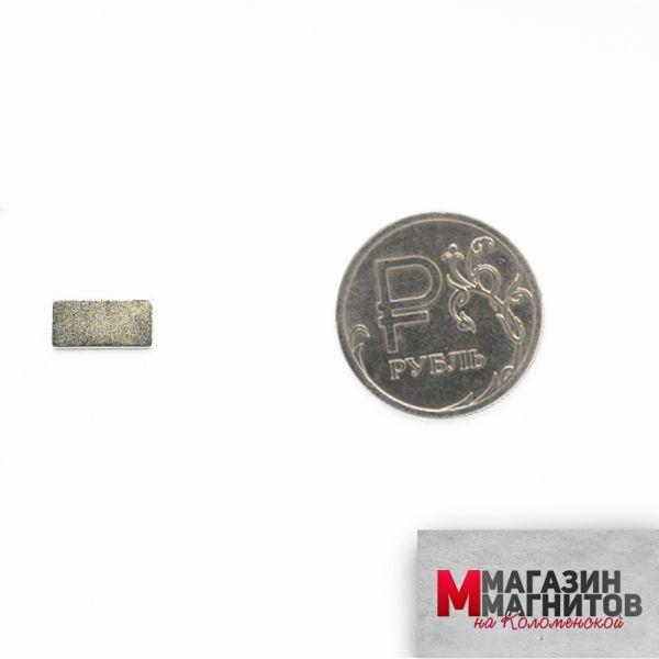Неодимовый прямоугольник 10х5х1 мм.