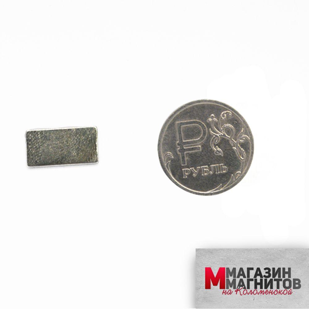 Неодимовый прямоугольник 15х8х1 мм. с клеевым слоем 3М