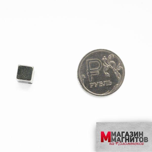 Неодимовый прямоугольник 7х7х7 мм.