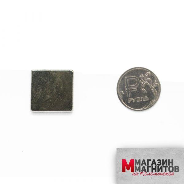 Неодимовый магнит прямоугольник 20х20х3 мм.