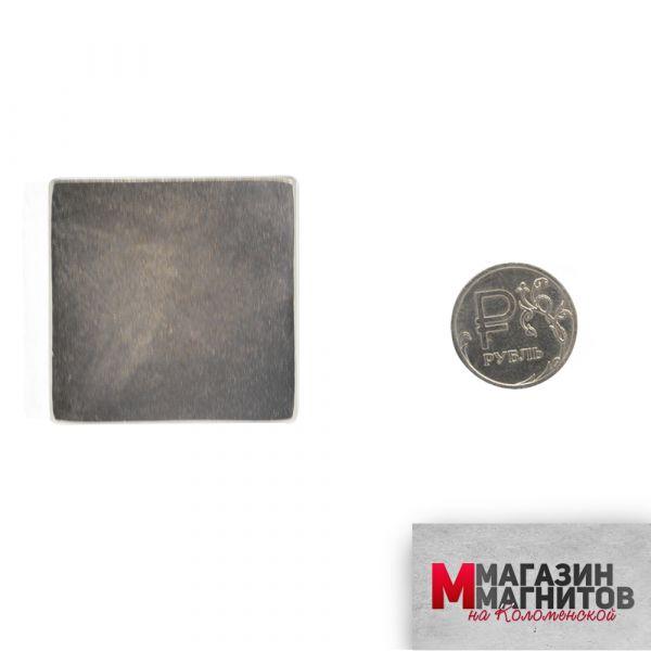 Неодимовый прямоугольник 40х40х10 мм.