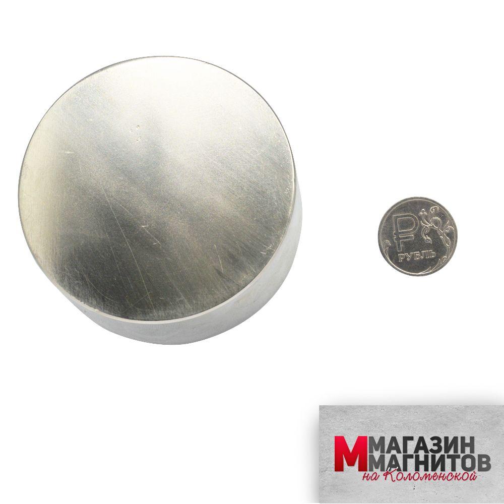 Неодимовый магнит диск 70х30 мм.