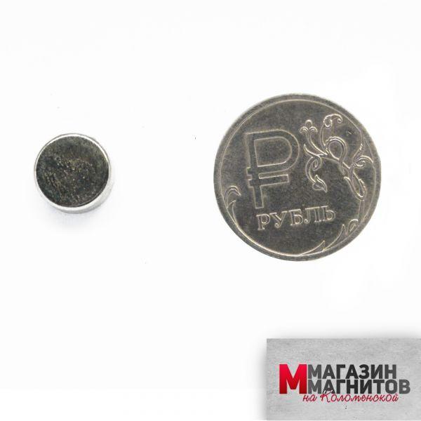 Неодимовый магнит 10х5 мм.
