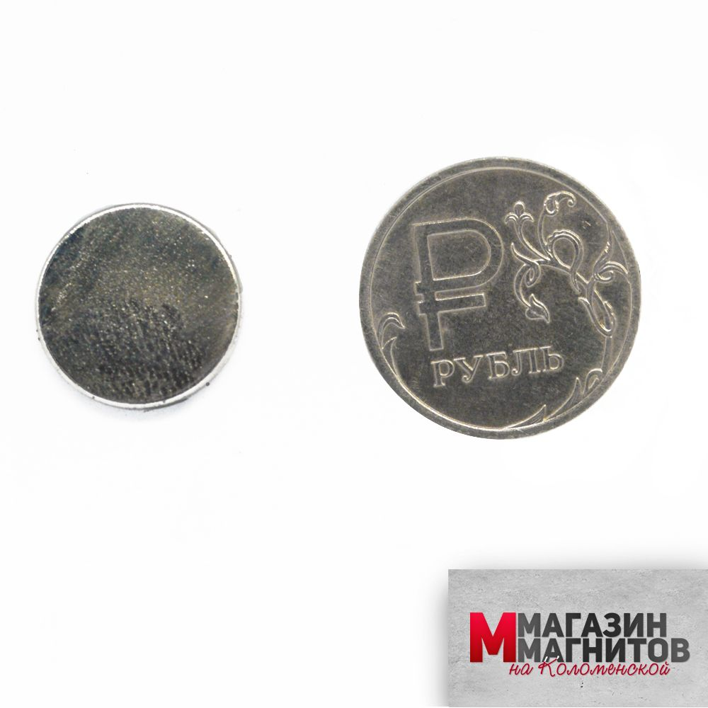Неодимовый магнит диск 15х1.5 мм.