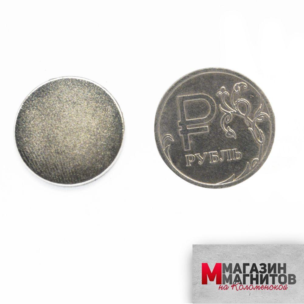 Неодимовый магнит диск 20х1.5 мм.