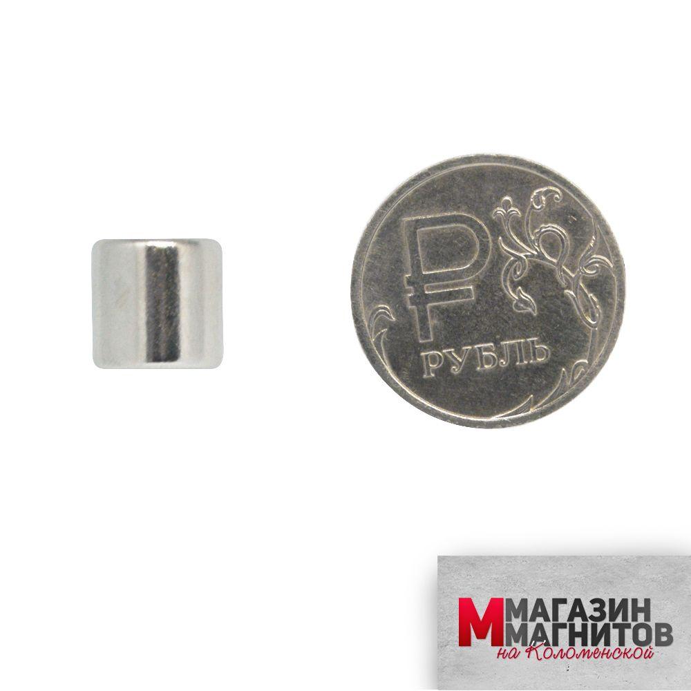 Неодимовый магнит 10х10 мм.