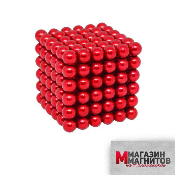 Неокуб красный 5 мм.  (216 шариков)