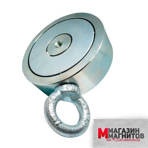 Поисковый магнит двухсторонний F500х2 (500 кг.)