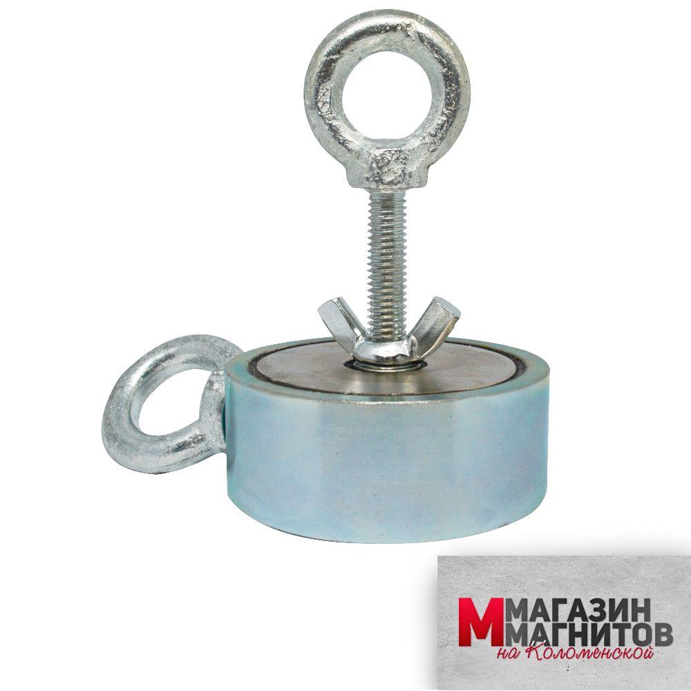Поисковый магнит двухсторонний F200х2 (200 кг.)
