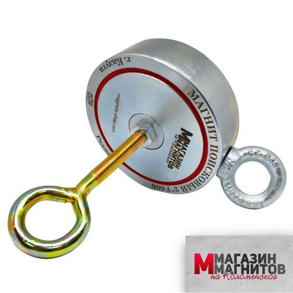 Поисковый магнит двухсторонний F600х2 Редмаг (600 кг.)