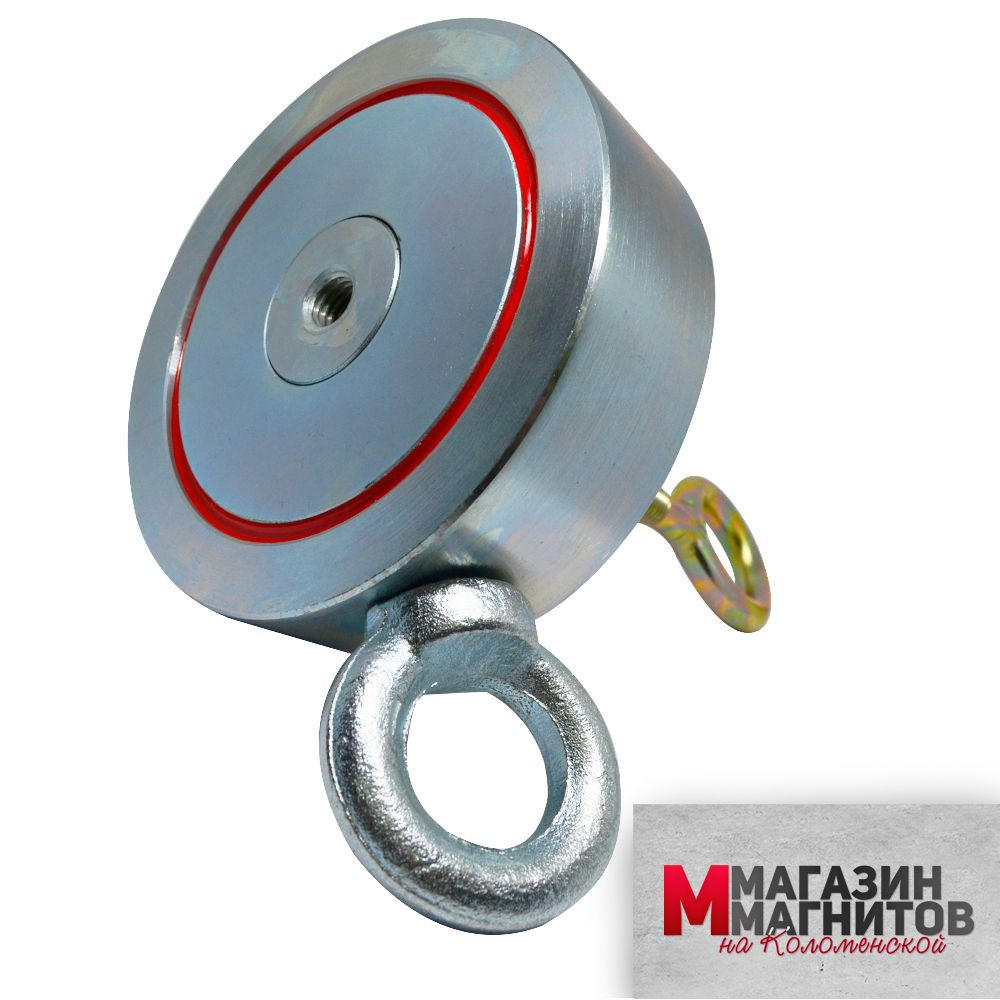 Поисковый магнит двухсторонний F400х2 Редмаг (400 кг.)