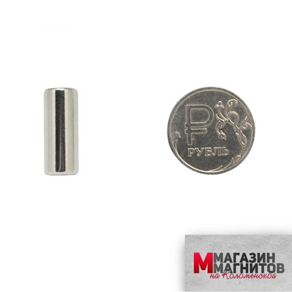 Неодимовый магнит пруток 8х20 мм.