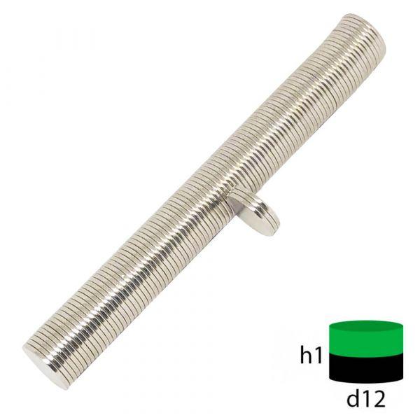 Неодимовый магнит 12х1 мм