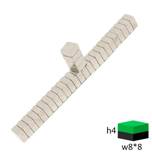 Неодимовый магнит прямоугольник 8х8х4 мм.