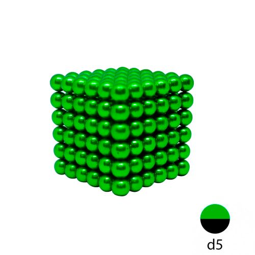 Неокуб зеленый 5 мм.  (216 шариков)