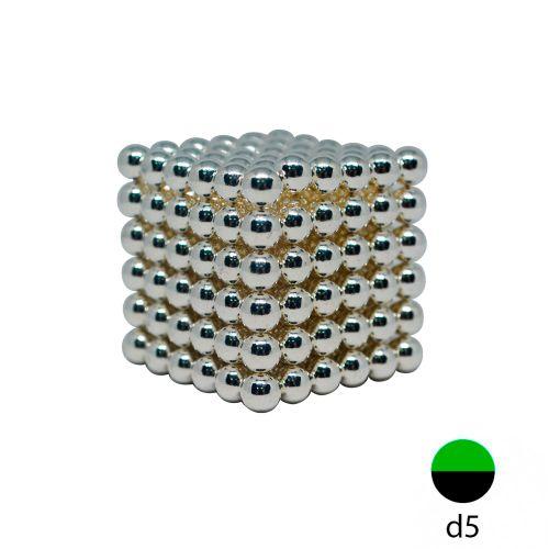 Неокуб Серебро 216 шариков 5 мм.