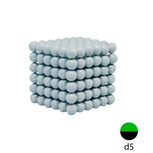 Неокуб белый 5 мм.  (216 шариков)