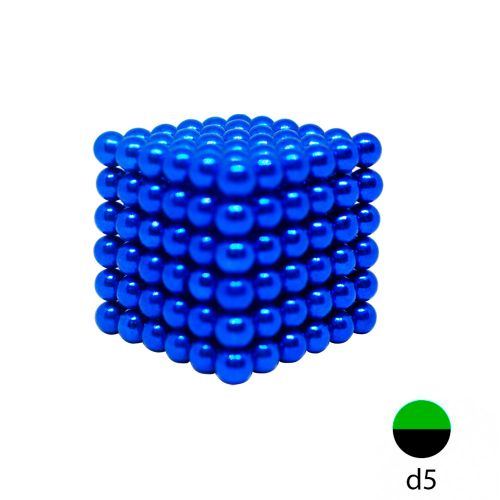 Неокуб синий 5 мм.  (216 шариков)