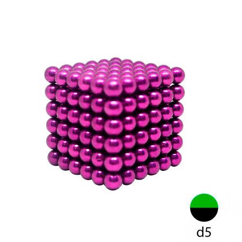 Неокуб фиолетовый 5 мм.  (216 шариков)