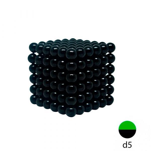 Неокуб черный 5 мм.  (216 шариков)