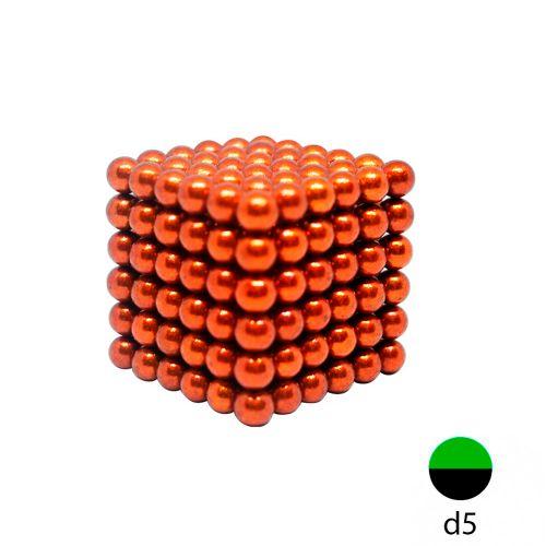 Неокуб оранжевый 5 мм.  (216 шариков)