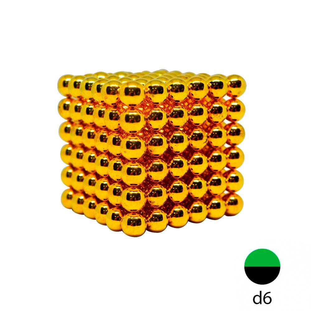 Неокуб золотой - 6 мм. (216 магнитных шариков)