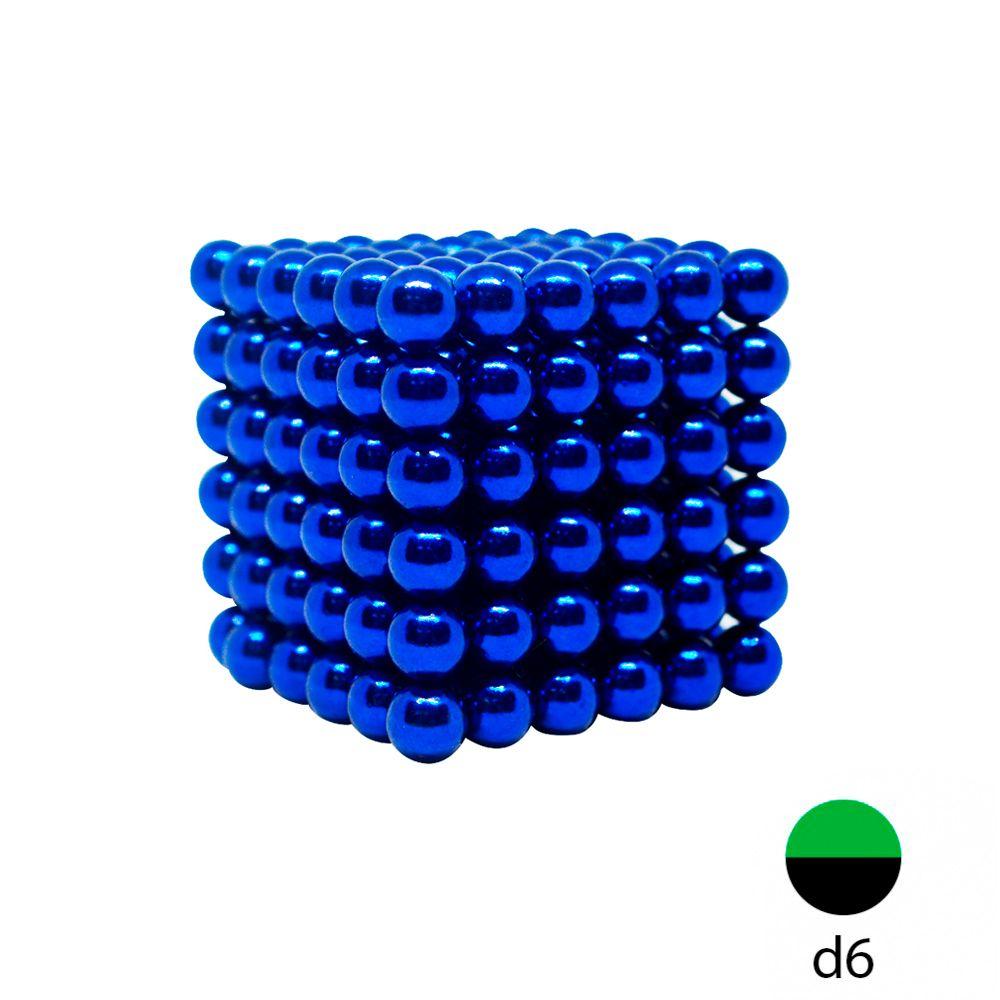 Неокуб синий - 6 мм. (216 магнитных шариков)