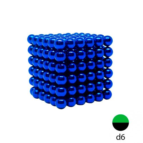 Неокуб синий - 6 мм. (216 шариков)