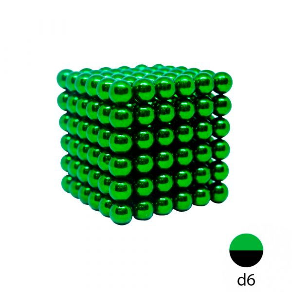Неокуб зеленый - 6 мм. (216 магнитных шариков)
