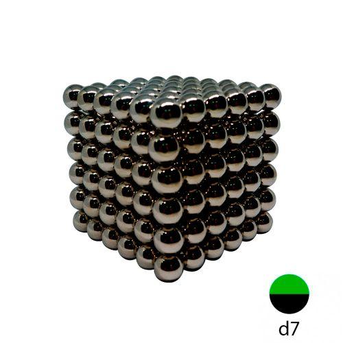 Неокуб черный - 7 мм. (216 шариков)