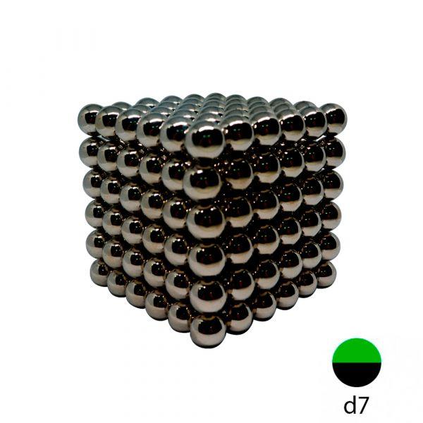 Неокуб черный - 7 мм. (216 магнитных шариков)