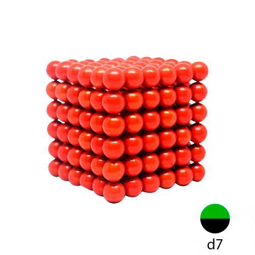 Неокуб красный - 7 мм. (216 шариков)
