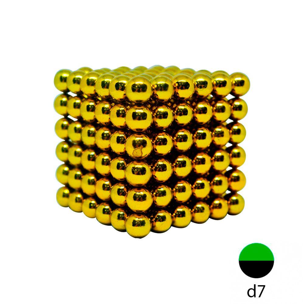 Неокуб золотой - 7 мм. (216 магнитных шариков)