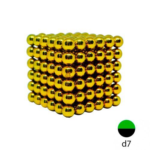 Неокуб золотой - 7 мм. (216 шариков)