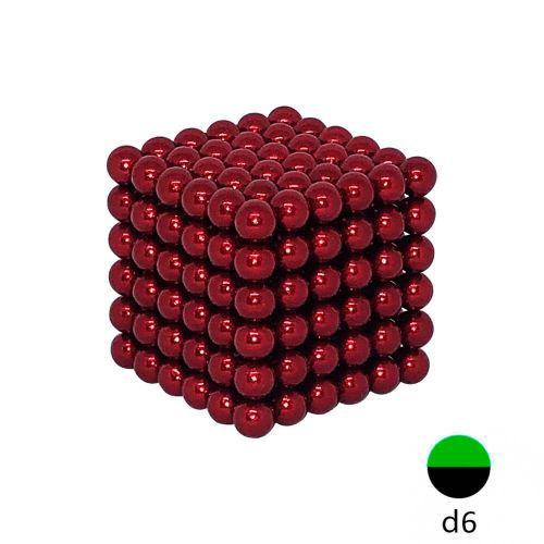Неокуб красный - 6 мм (216 магнитных шариков)