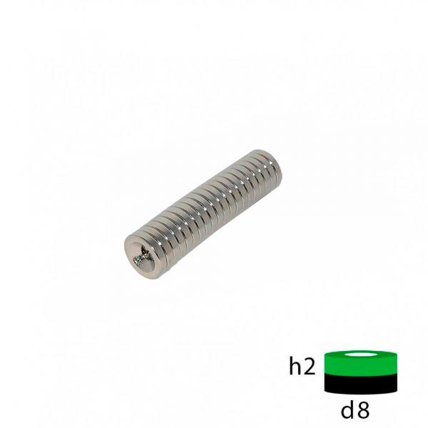 Неодимовый магнит кольцо 10х5х1 мм.