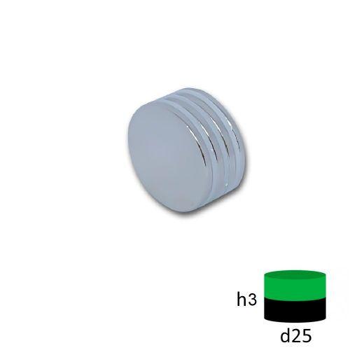 Неодимовый магнит диск 25х3 мм.