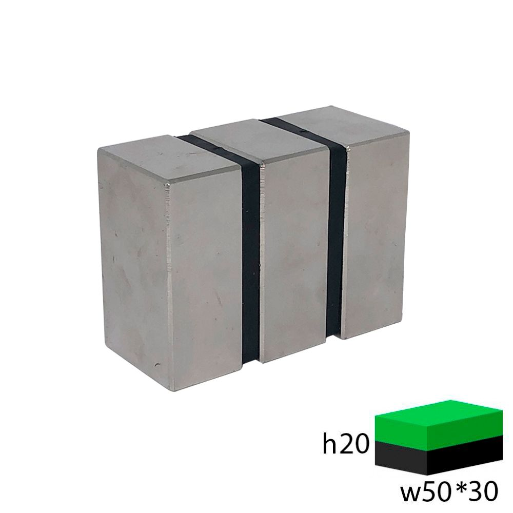 Неодимовый прямоугольник 50х30х20 мм.