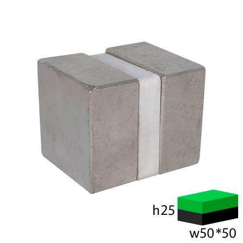 Неодимовый прямоугольник 50х50х25 мм.