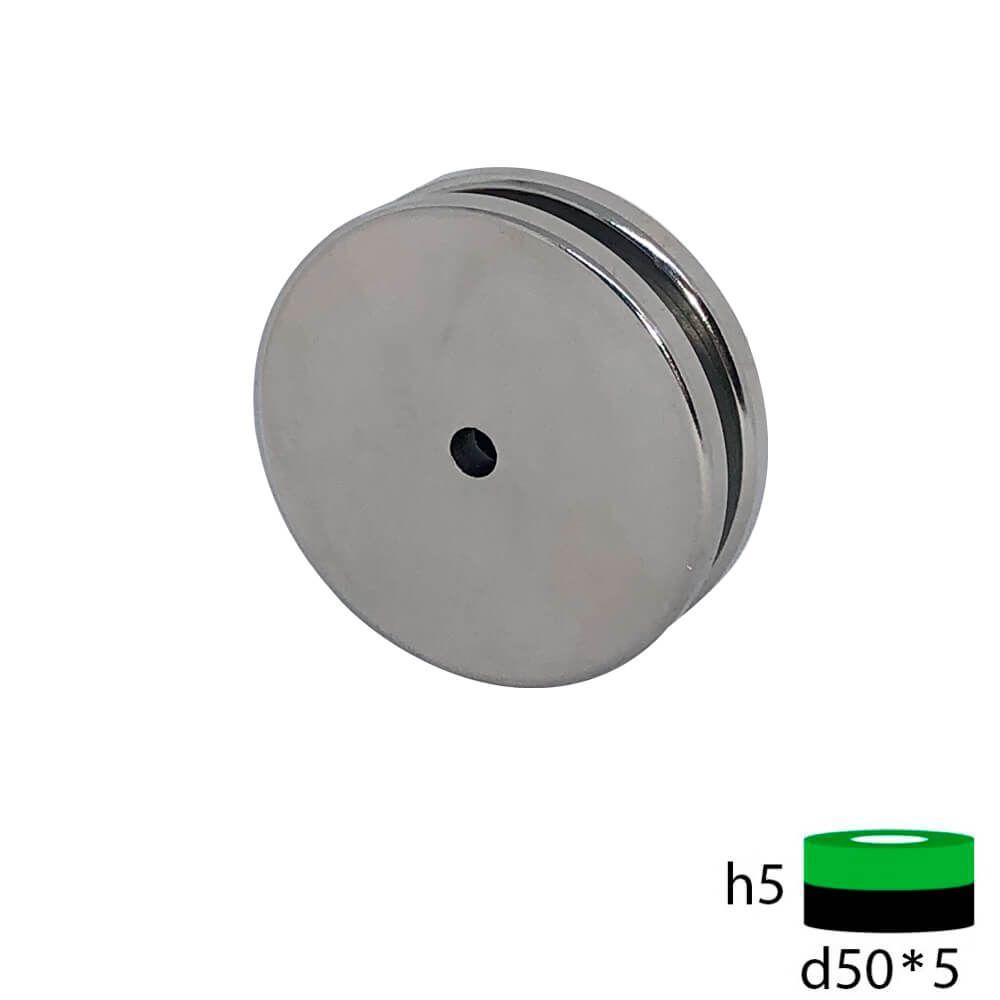 Неодимовый магнит кольцо 50х5х5 мм.